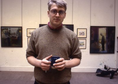 Robbie at Solo Show 1992, Scottish Gallery, George Street