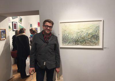'Road to Capistrano' runner up for Discerning Eye Drawing bursary, Mall Galleries London, November 2016