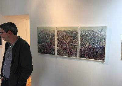 Oxgangs Reimagined at, 'Ghostlands' at Tatha Gallery, Newport on Tay, Sept 2016.