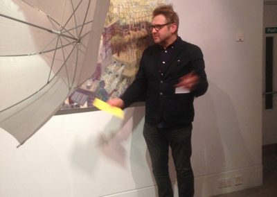 Winning W Gordon Smith Painting Prize at Dovecot Gallery January 2016