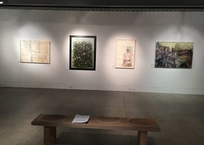 Admissions Gate at W Gordon Smith Painting Prize at Dovecot Gallery January 2016