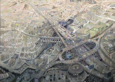Flightpath of the Aquatic Asthnmatic, oil on canvas, 190 x 183cm