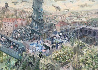 'staidhre gu nèamh' oil on canvas 2017