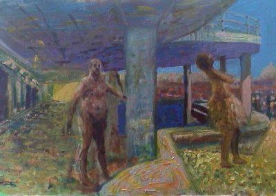 Naked Man Under Pier