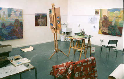 Robbie Bushe, Grays School of Art, Studio