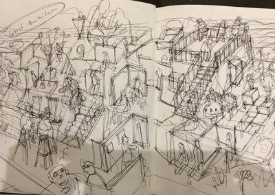 Stepped Terraces improvised study