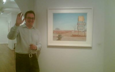 Barry at his opening at John Martin