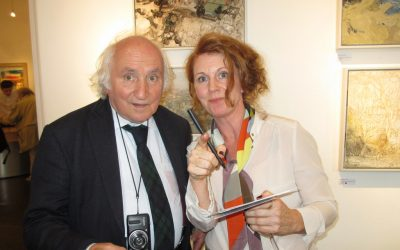 Catharine meets Richard Demarco at Open Eye Gallery