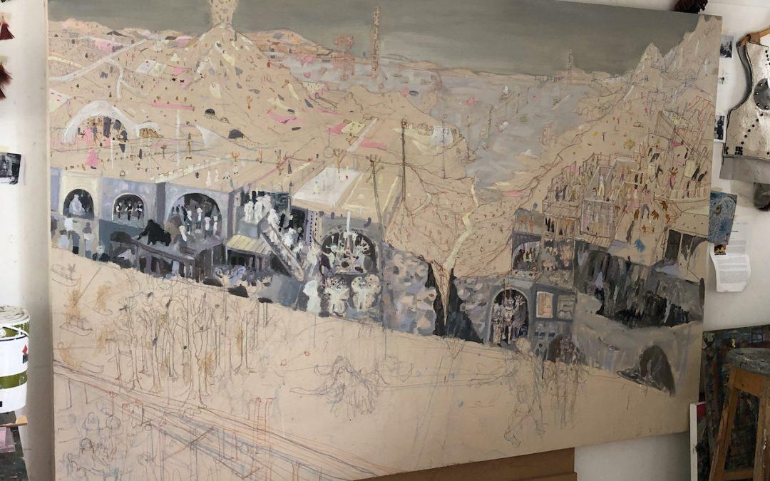 Making of NEONEANDERTHALS paintings